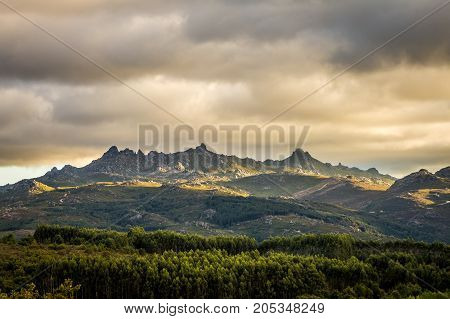 A view of the Natural Park of Xures in Spain next to Portuguese border.