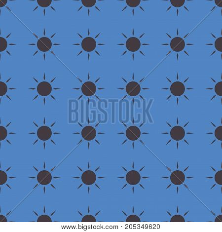 Sun vector illustration on a seamless pattern background. Set of elements