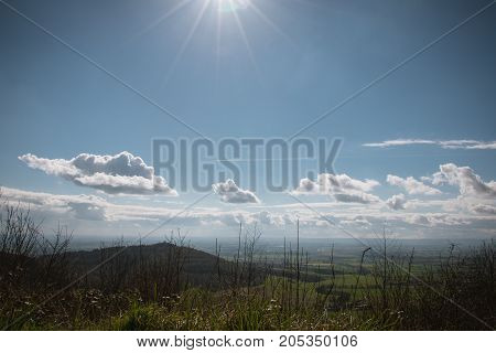 A View From The Top Of Sutton Bank, North York Moors, Yorkshire, England