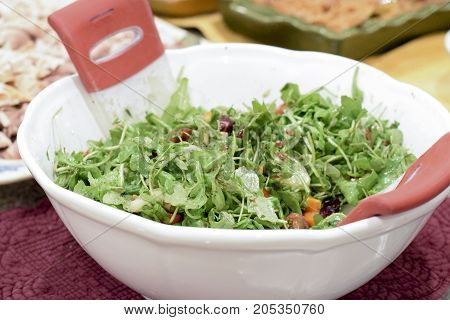 A Beautiful Arugula Salad For Thanksgiving