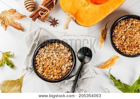 Oats And Pumpkin Crumble