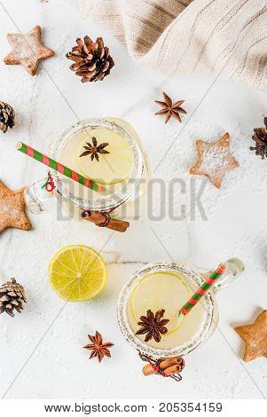 Festive Snowball Cocktail
