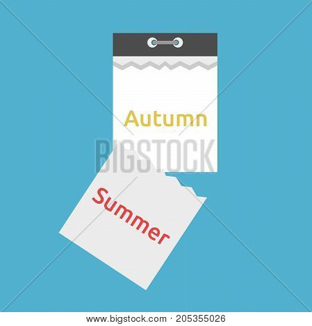 Tear-off Calendar, Summer, Autumn
