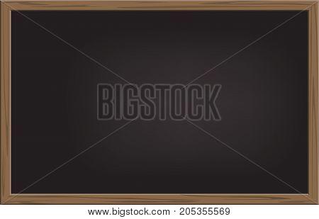 School background. Vector realistic black school blackboard.