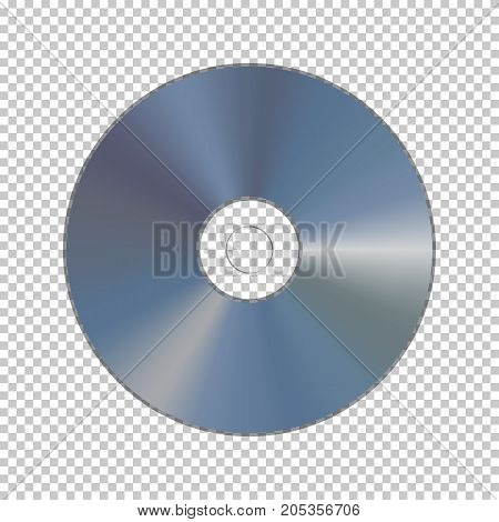 DVD or CD disk isolated on transparent background. Vector element.