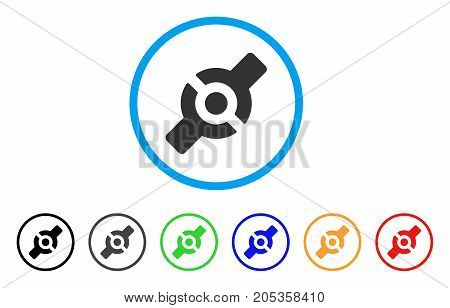 Artificial Joint rounded icon. Style is a flat artificial joint gray symbol inside light blue circle with black, gray, green, blue, red, orange variants.