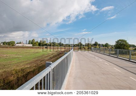 Path On A Bridge In Danish Town Of Naestved