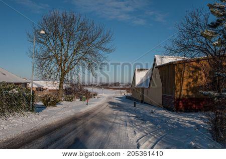 Farm In The Danish Village Of Kastrup In Denmark