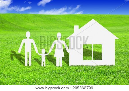 Paper family with house make your house concept