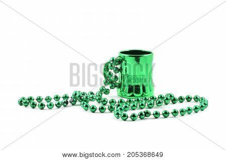 Mardi Gras Plastic Bead Necklace