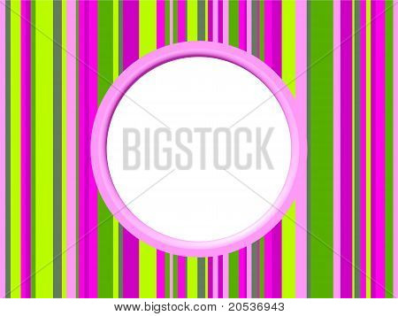 Pinky Green Stripes Border