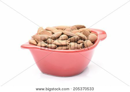 a lot of almonds and white and red
