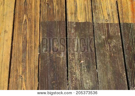 Clean edge pressure washed boards background, horizontal aspect