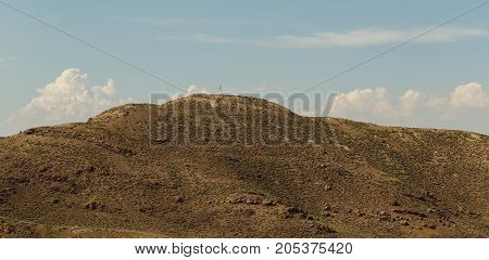 Mountain in Armenia. horizontal shot in the afternoon