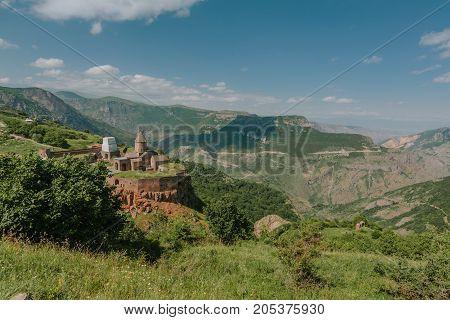 Tatev Monastery, Armenia. horizontal shot in the afternoon