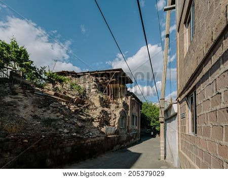 Historic district Kond, Yerevan, Armenia. horizontal shot in the afternoon