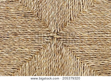 Background Pattern Square Handicraft Weave Texture Wicker Surface for Furniture Material.
