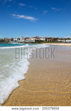 Bondi Beach is one of the worlds most famous beaches. A short trip from Sydney CBD it is very popular with locals and tourists.