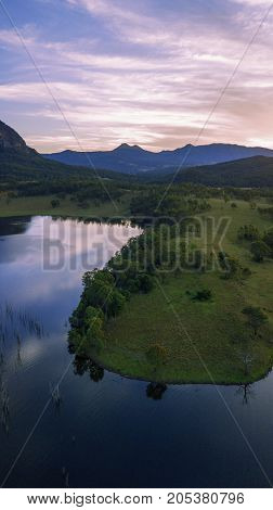 Aerial View Of Lake Moogerah In Queensland