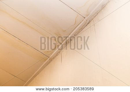 Roof Leakages Results Ugly Water Mark On Ceiling