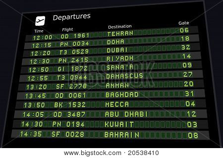 Middle East Timetable