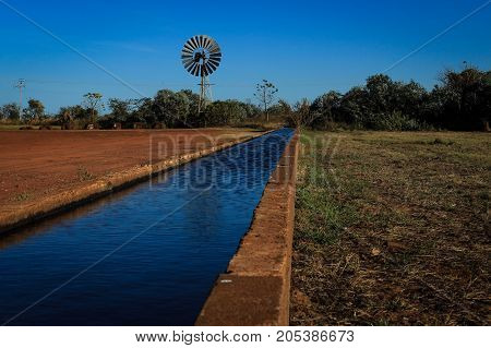 The longest water trough in the southern hemisphere, outback australia