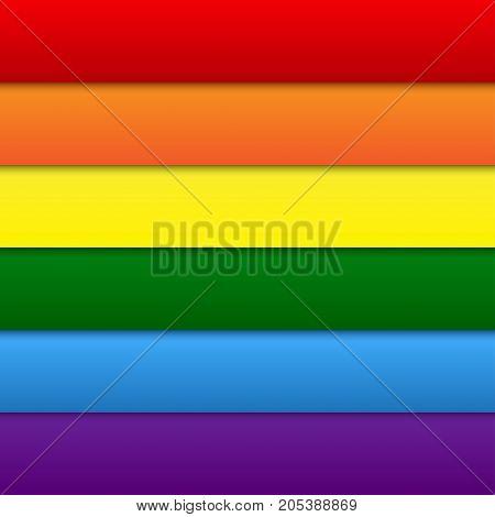 Vector LGBT Elements Background. Lgbt Rainbow Flag. Gay Colors. Gay Community Symbol. Vector Background.
