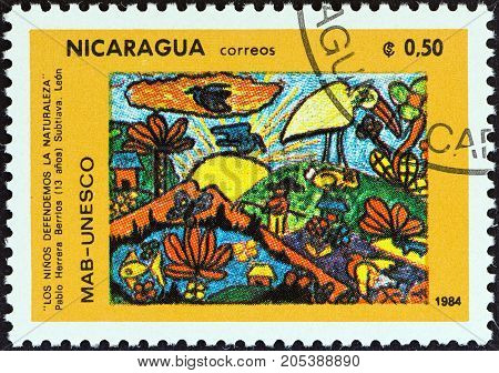 NICARAGUA - CIRCA 1984: A stamp printed in Nicaragua from the