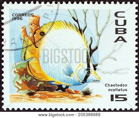 CUBA - CIRCA 1996: A stamp printed in Cuba from the