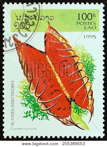 LAOS - CIRCA 1995: A stamp printed in Laos from the