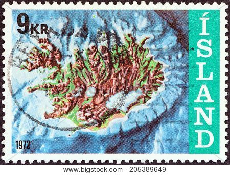 ICELAND - CIRCA 1972: A stamp printed in Iceland from the