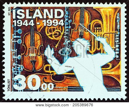 ICELAND - CIRCA 1994: A stamp printed in Iceland from the