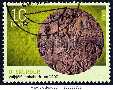 ICELAND - CIRCA 2010: A stamp printed in Iceland from the