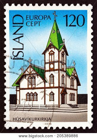 ICELAND - CIRCA 1978: A stamp printed in Iceland from the