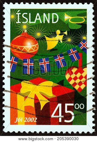 ICELAND - CIRCA 2002: A stamp printed in Iceland from the