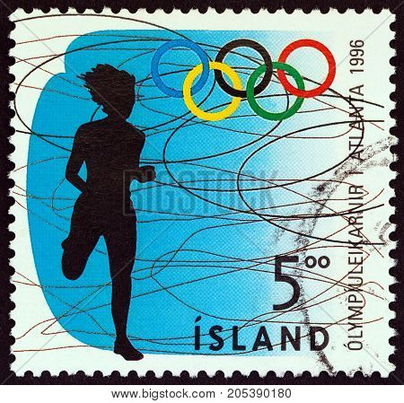 ICELAND - CIRCA 1996: A stamp printed in Iceland from the
