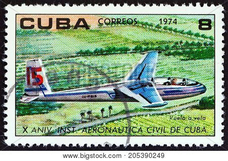 CUBA - CIRCA 1974: A stamp printed in Cuba from the