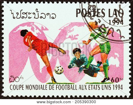 LAOS - CIRCA 1994: A stamp printed in Laos from the