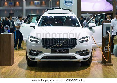 Bangkok Motor show Thailand - April 062017 : Volvo motor show booth.