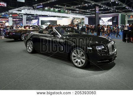 Bangkok Motor show Thailand - April 062017 : Rolls Royce motor show booth.