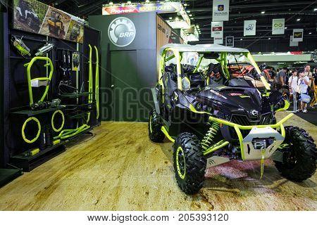 Bangkok Motor show Thailand - April 062017 : UTV motor show booth.