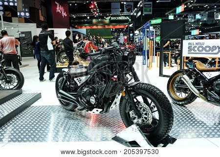 Bangkok Motor show Thailand Muang Thong Thani - March 302017 : Honda motor show booth rebel 500.