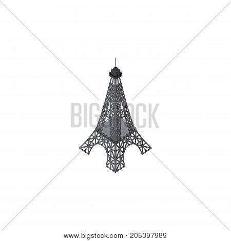 Paris Vector Element Can Be Used For Eiffel, Tower, Paris Design Concept.  Isolated Eiffel Tower Isometric.