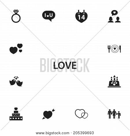 Set Of 13 Editable Amour Icons. Includes Symbols Such As Plate, Trappings, Confession And More