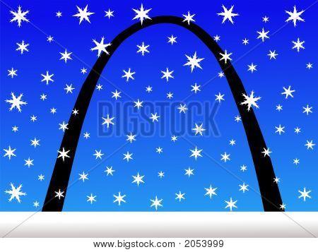 Gateway Arch In Winter