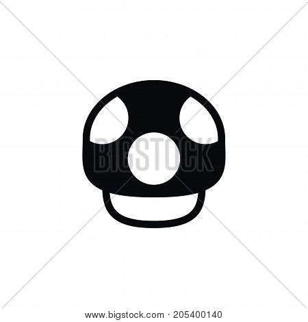 Mushroom Vector Element Can Be Used For Fungus, Mushroom, Darner Design Concept.  Isolated Fungus Icon.