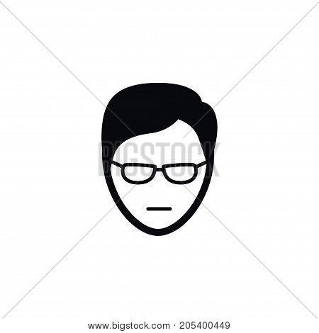 Young Person Vector Element Can Be Used For Male, Young, Person Design Concept.  Isolated Male Icon.