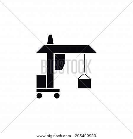 Hook Vector Element Can Be Used For Hook, Machine, Crane Design Concept.  Isolated Machine Icon.