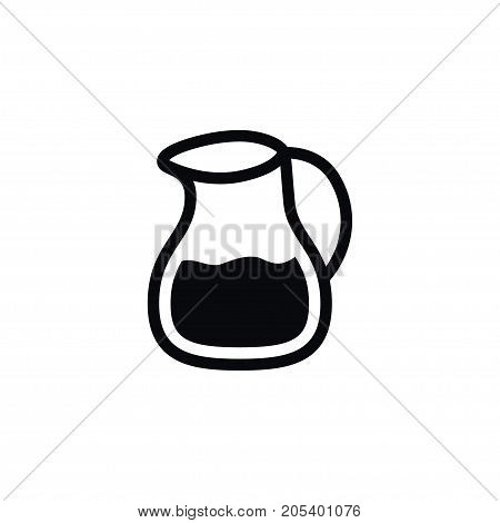 Milk Pitcher Vector Element Can Be Used For Milk, Jug, Dairy Design Concept.  Isolated Dairy Jug Icon.