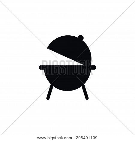 Grilling Vector Element Can Be Used For Brazier, Burner, Grilling Design Concept.  Isolated Burner Icon.